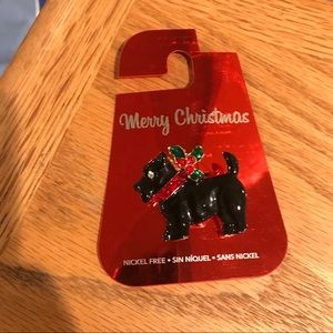 Scottie Christmas Pin